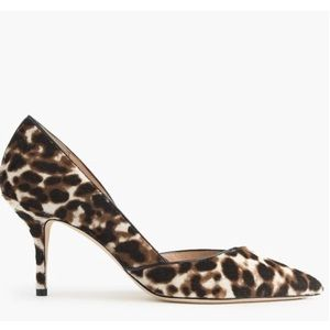 J. CREW. Leopard Collette D'Orsay Heels.
